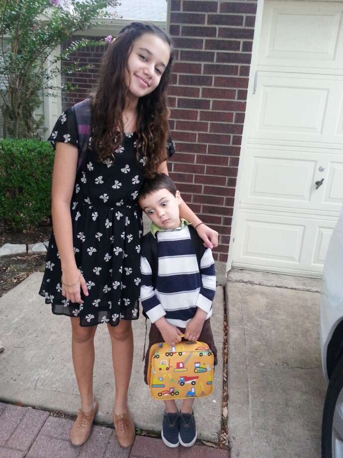 Lily, left, and Nate, who is starting kindergarten.