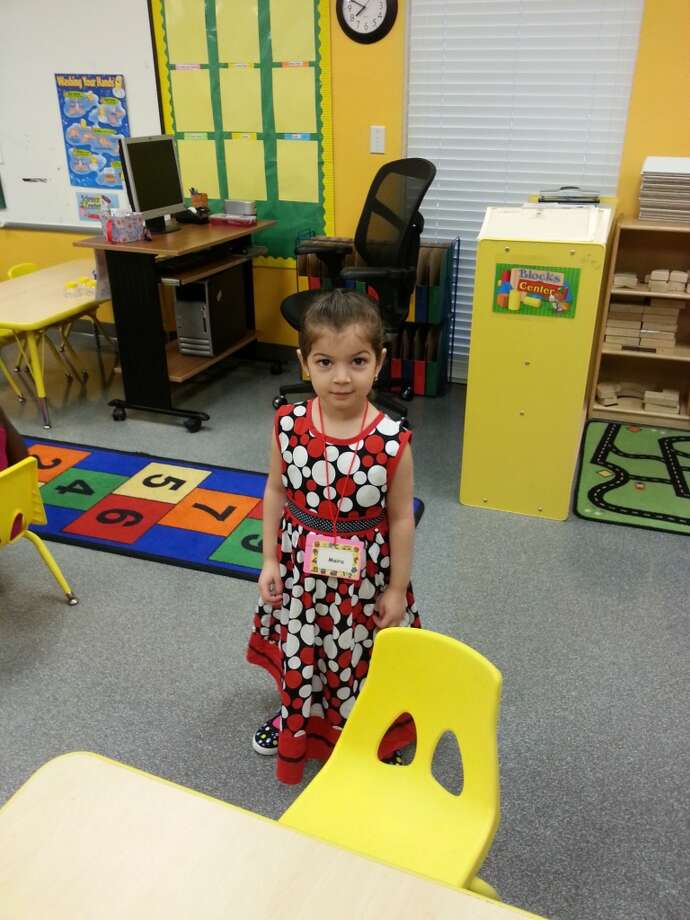 Maira Shah on her first day of pre-K.