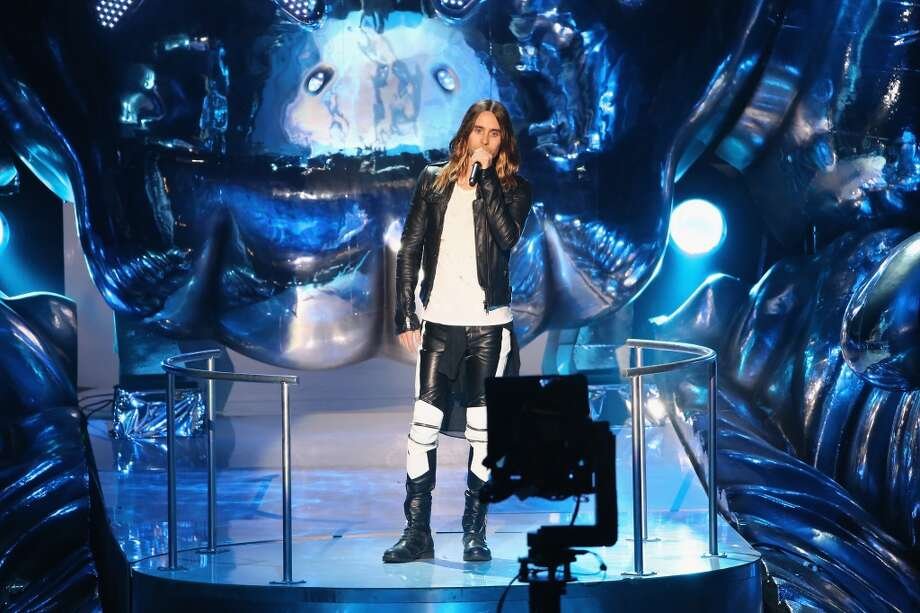 Jared Leto speaks onstage during the 2013 MTV Video Music Awards at the Barclays Center on August 25, 2013 in the Brooklyn borough of New York City.  (Photo by Neilson Barnard/Getty Images for MTV) Photo: Neilson Barnard, Getty Images For MTV