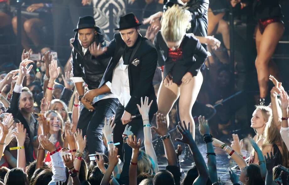 Musician Justin Timberlake performs onstage during the 2013 MTV Video Music Awards at the Barclays Center on August 25, 2013 in the Brooklyn borough of New York City.  (Photo by Neilson Barnard/Getty Images for MTV) Photo: Neilson Barnard, Getty Images For MTV