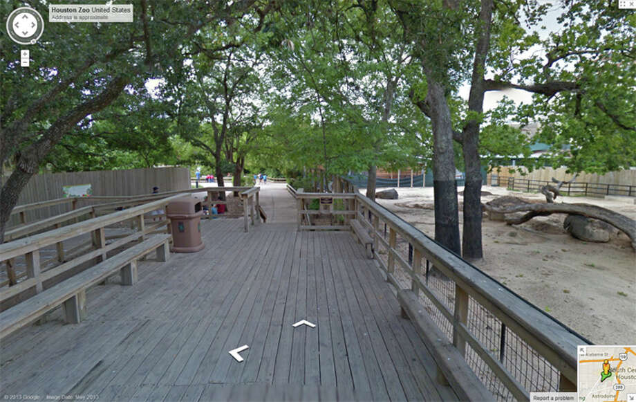 Google Street view image  of the Houston Zoo.