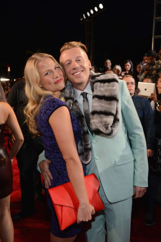 Tricia Davis and Macklemore attend the 2013 MTV Video Music Awards at the Barclays Center on August 25, 2013 in the Brooklyn borough of New York City.  (Photo by Larry Busacca/Getty Images for MTV) Photo: Larry Busacca, Getty Images For MTV