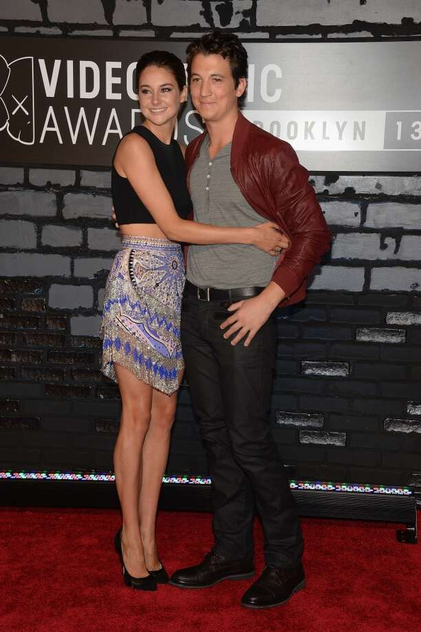 Actors Shailene Woodley (L) and Miles Teller attend the 2013 MTV Video Music Awards at the Barclays Center on August 25, 2013 in the Brooklyn borough of New York City.  (Photo by Jamie McCarthy/Getty Images for MTV) Photo: Jamie McCarthy, Getty Images For MTV