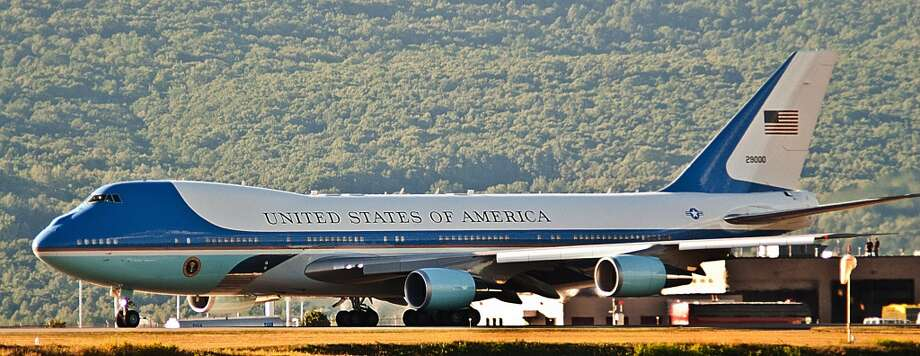 Air Force One departs the Wilkes-Barre / Scranton International Airport in Avoca, Pa., on Friday, Aug. 23, 2013, after President Barack Obama's two-day bus trip to upstate New York and Scranton, Pa.  (AP Photo/The Citizens' Voice, Ralph Francello)  MANDATORY CREDIT Photo: Associated Press