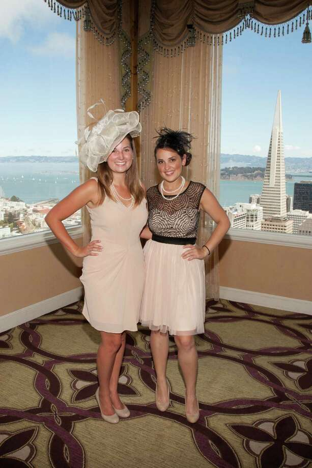 Kate Robinson and Christina Cordesa at the Spinsters of San Francisco Annual New Member Tea at the Fairmont on August 25, 2013. Photo: Drew Altizer Photography / @ Drew Altizer 2013