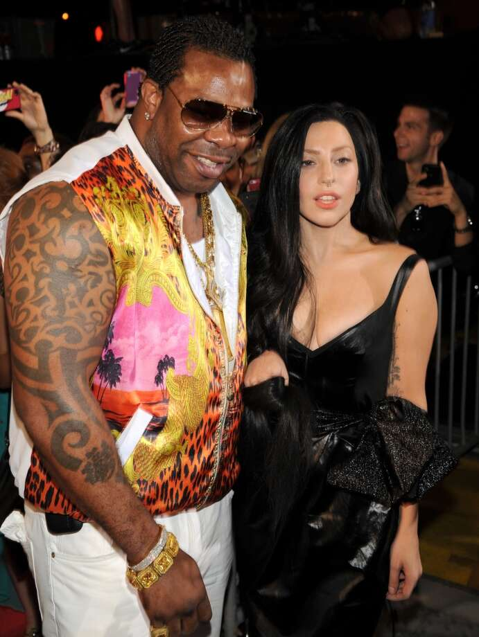 Busta Rhymes, from left, and Lady Gaga arrive at the MTV Video Music Awards on Sunday, Aug. 25, 2013, at the Barclays Center in the Brooklyn borough of New York. (Photo by Scott Gries/Invision/AP) Photo: Scott Gries, Associated Press