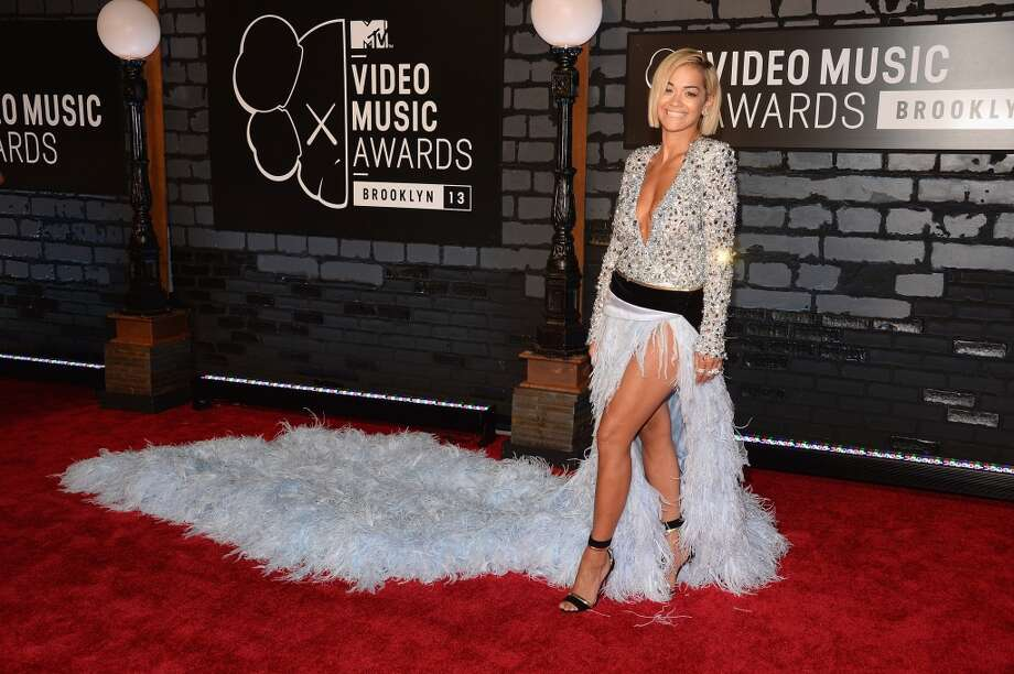 Rita Ora attends the 2013 MTV Video Music Awards at the Barclays Center on August 25, 2013 in the Brooklyn borough of New York City.  (Photo by Jamie McCarthy/Getty Images for MTV) Photo: Jamie McCarthy, Getty Images For MTV