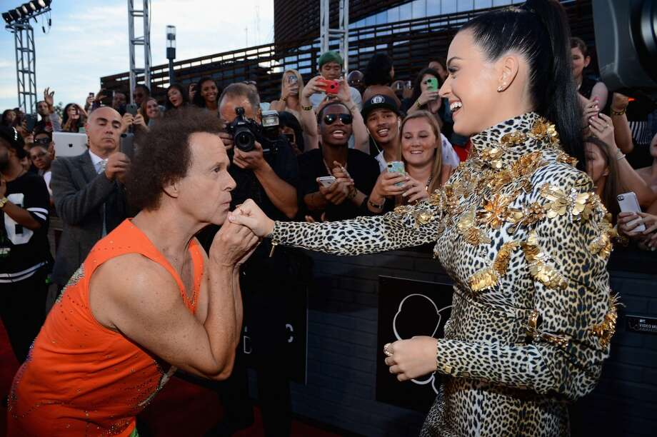 Katy Perry (R) and Richard Simmons attend the 2013 MTV Video Music Awards at the Barclays Center on August 25, 2013 in the Brooklyn borough of New York City.  (Photo by Larry Busacca/Getty Images for MTV) Photo: Larry Busacca, Getty Images For MTV