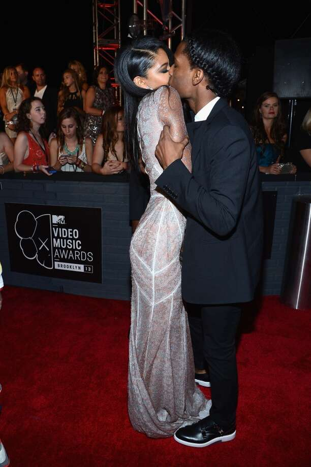 Chanel Iman and Asap Rocky attend the 2013 MTV Video Music Awards at the Barclays Center on August 25, 2013 in the Brooklyn borough of New York City.  (Photo by Larry Busacca/Getty Images for MTV) Photo: Larry Busacca, Getty Images For MTV