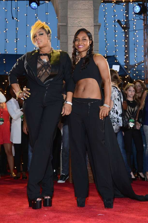 Tionne 'T-Boz' Watkins and Rozonda 'Chilli' Thomas of TLC attend the 2013 MTV Video Music Awards at the Barclays Center on August 25, 2013 in the Brooklyn borough of New York City.  (Photo by Larry Busacca/Getty Images for MTV) Photo: Larry Busacca, Getty Images For MTV