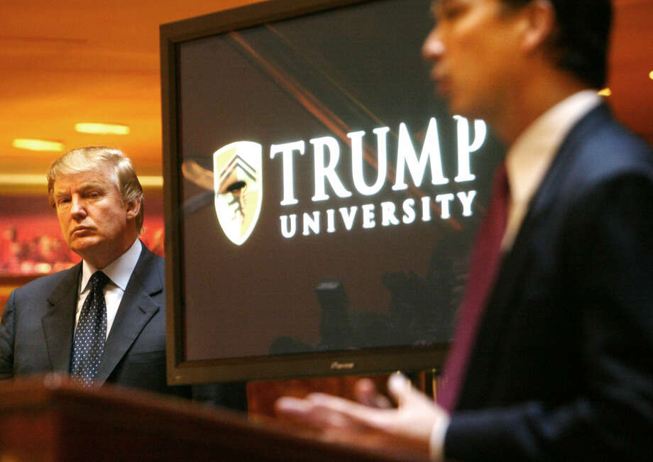N.Y. Attorney General Eric Schneiderman is suing Donald Trump for $40 million, saying Trump University didn't deliver its promise to make students rich. Photo: Bebeto Matthews, STF / AP