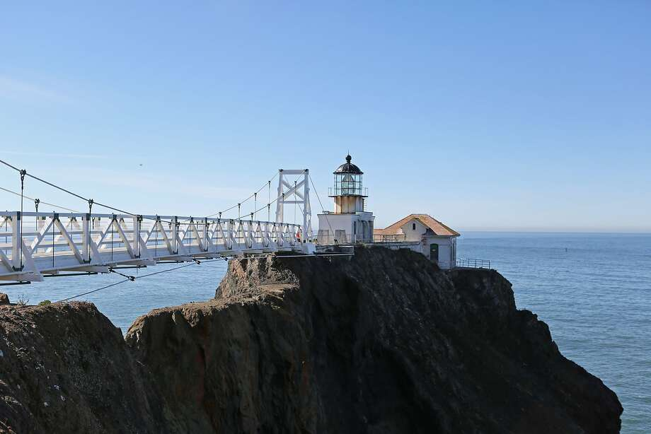 It's a bridge to beauty, and great views from the Point Bonita Lighthouse at the mouth of the San Francisco Bay.This is one of several short walks to tempt you on Super Bowl Sunday. Photo: Rashad Sisemore, The Chronicle