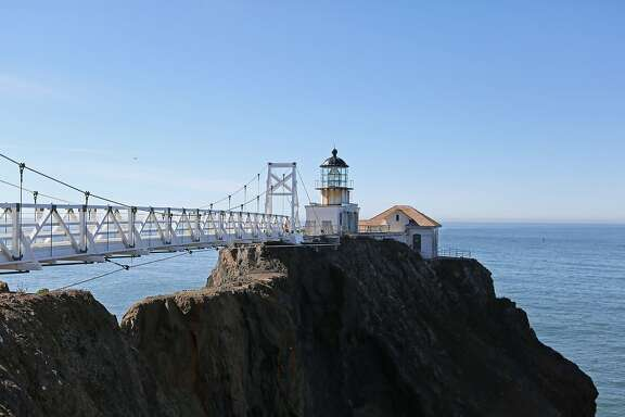 On October 27, 2012 in Marin Headlands, Calif. Bay Area residents and traveling tourists tour the Point Bonita lighthouse on the 40th anniversary of the Golden Gates National Parks. Several activities were planned Saturday for the 40th anniversary including a Rodeo Valley Trail Anniversary Founders Walk.