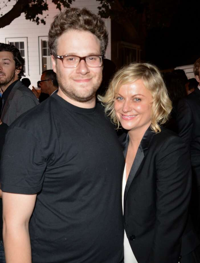 Roast Master Seth Rogen and actress Amy Poehler attend The Comedy Central Roast of James Franco after party at Culver Studios on August 25, 2013 in Culver City, California. Photo: Jason Merritt, Getty Images For Comedy Central