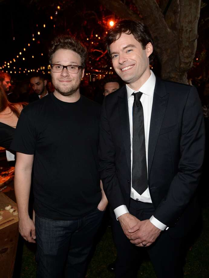 Roast Master Seth Rogen and actor Bill Hader attend The Comedy Central Roast of James Franco after party at Culver Studios on August 25, 2013 in Culver City, California. Photo: Jason Merritt, Getty Images For Comedy Central
