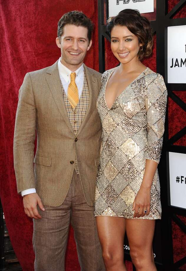 Actor Matthew Morrison and Renee Puente attend the Comedy Central Roast of James Franco at Culver Studios on August 25, 2013 in Culver City, California. Photo: Jason LaVeris, FilmMagic