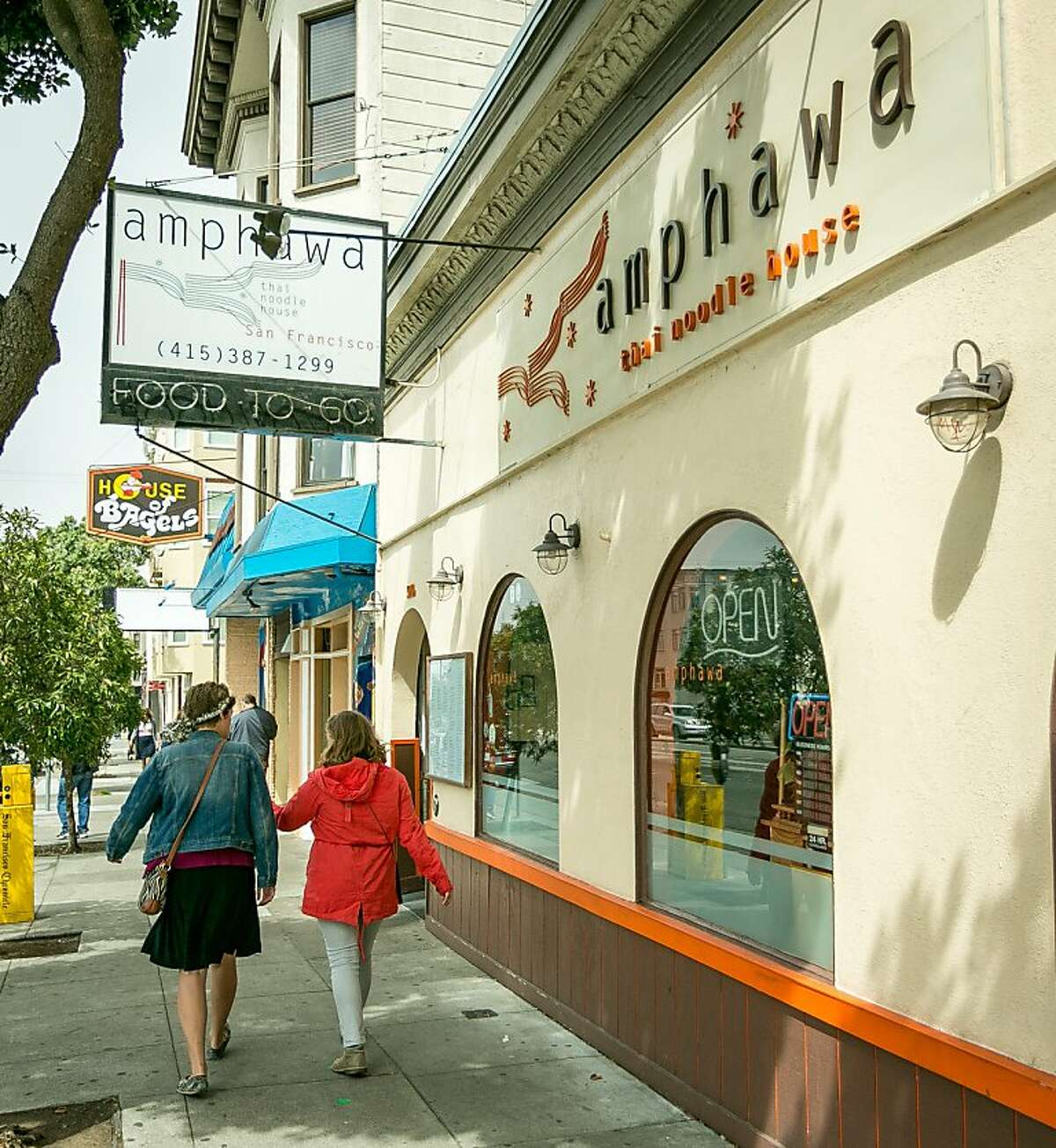 Amphawa Thai Noodle : If you're looking for a bargain, Amphawa has some great dishes at a wallet-friendly price. Check out the Dungeness crab fried rice, pork leg stew over rice, or any of the noodle soups. 5020 Geary Blvd, S.F. (415) 387-1299. www.amphawathai.com