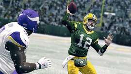 In an undated handout image, a screen grab from the video game Madden NFL 25. When it comes to the deeply physical realm of sports, many people still regard virtual competitions as illegitimate. (EA SPORTS via The New York Times) -- NO SALES; FOR EDITORIAL USE ONLY WITH STORY SLUGGED MADDEN GAME 25 BY CHRIS SUELLENTROP. ALL OTHER USE PROHIBITED.
