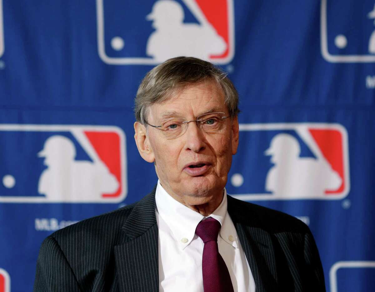 Major League Baseball Commissioner Bud Selig speaks during a news conference following baseball meetings at the Otesaga Hotel on Aug. 15 in Cooperstown, N.Y.