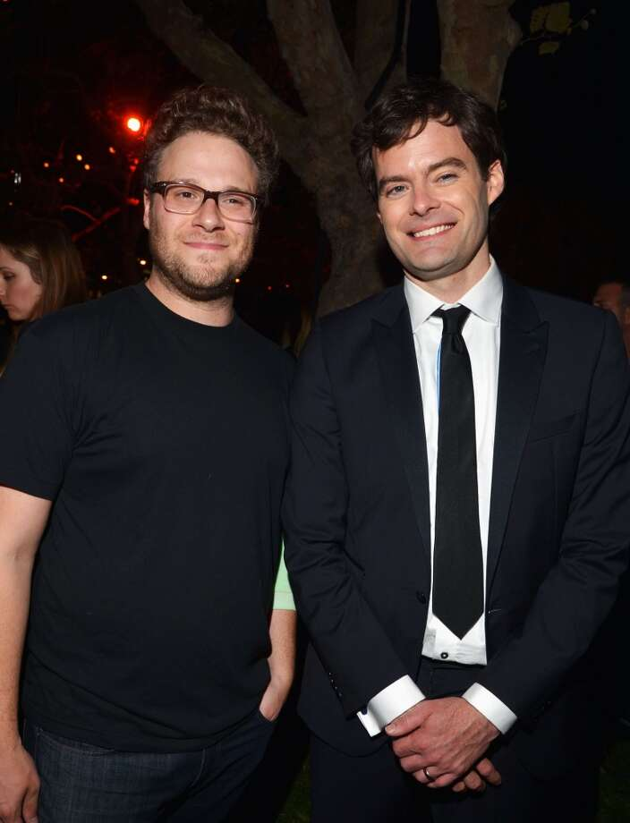 Actors Seth Rogen and Bill Hader attend The Comedy Central Roast Of James Franco after party at Culver Studios on August 25, 2013 in Culver City, California. Photo: Lester Cohen, WireImage