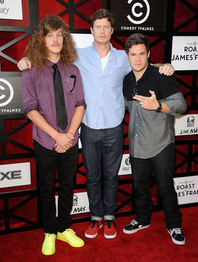 (L-R) Actors Blake Anderson, Anders Holm and Adam DeVine attend the Comedy Central Roast of James Franco at Culver Studios on August 25, 2013 in Culver City, California. Photo: Jason LaVeris, FilmMagic
