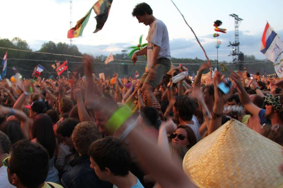 Sziget festival on Obudai-sziget, an island on the Danube in Budapest, Hungary. Photo: Art Gimbel, Fest300