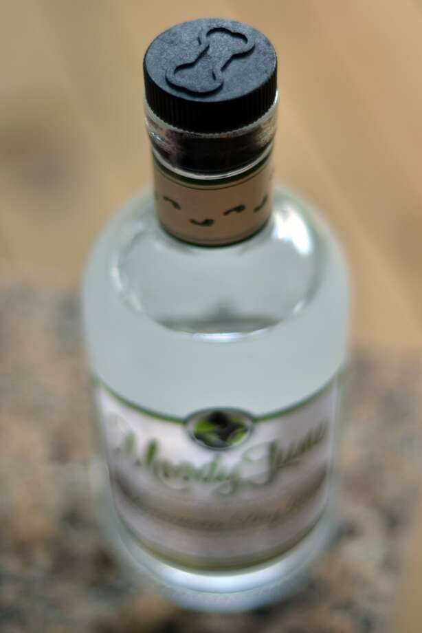 Moody June Gin from Bone Spirits, a farm-to-bottle craft distillery in Smithville. Photo: Cat5