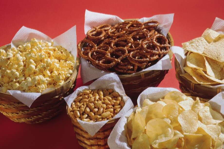 Here are the top 10 sources of sodium in the American diet.   10. Snack foods such as chips, pretzels or popcorn. Photo: Comstock, Getty Images/Comstock Images