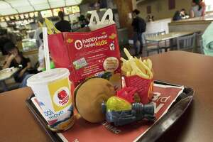 A Happy Meal at McDonald's on November 3, 2010 in San Francisco, which has banned toys with fast-food meals.