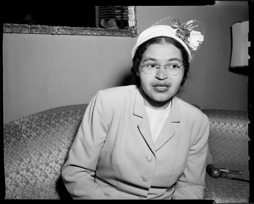 Civil rights pioneer Rosa Parks in Seattle, National Association for the Advancement of Colored People, 1956. Photo: Tom Brownell/Copyright MOHAI, Seattle Post-Intelligencer Collection, 1986.5.38322.1_fromD