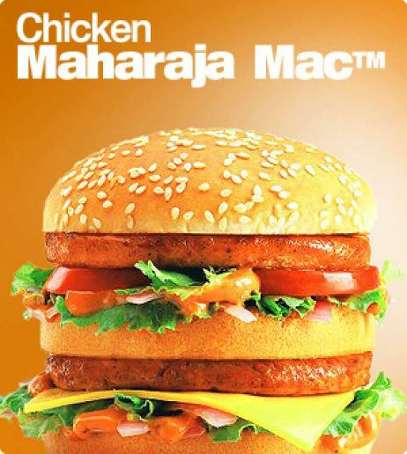 McDonald's in India offers vegetarian-only restaurants and specials like the Maharaja Mac, which is a Big Mac with chicken patties instead of beef. Photo: Associated Press / McDonald's