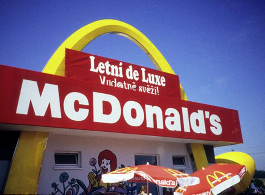 McDonald's is an ever-present symbol of American food in Italy; in fact, the hamburger empire is the number one fast-food chain in Europe. Photo: David C. Hoerlein, San Francisco Chronicle