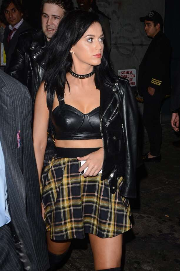 Singer Katy Perry leaves the Dream Downtown hotel on August 25, 2013 in New York City.  (Photo by Ray Tamarra/Getty Images) Photo: Ray Tamarra, Getty Images