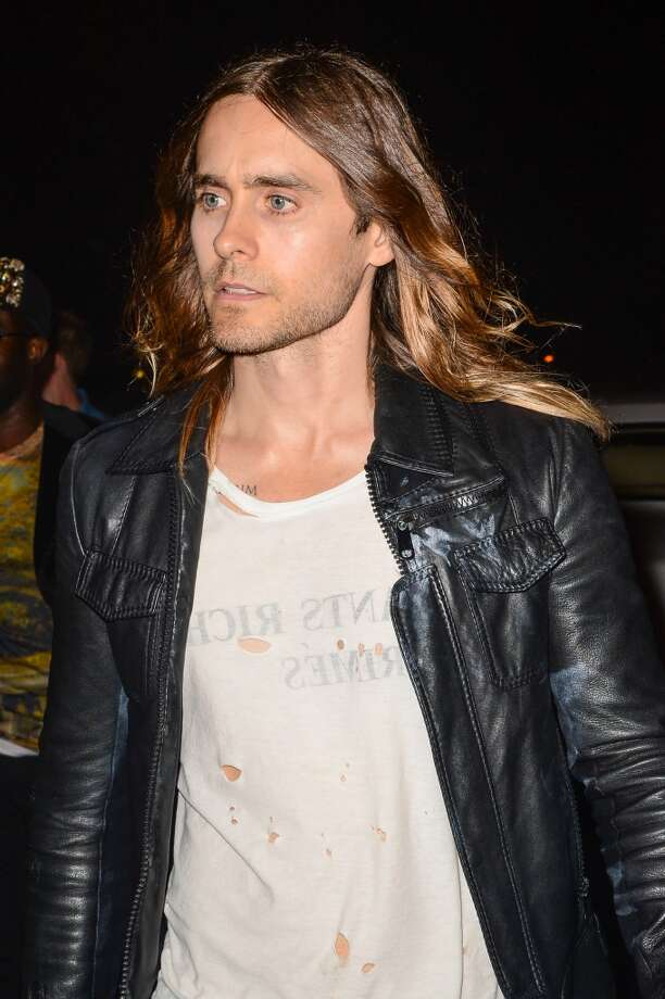 Singer Jared Leto leaves the Dream Downtown hotel on August 25, 2013 in New York City.  (Photo by Ray Tamarra/Getty Images) Photo: Ray Tamarra, Getty Images
