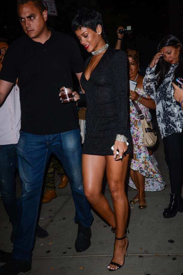 Singer Rihanna leaves the Dream Downtown hotel on August 25, 2013 in New York City.  (Photo by Ray Tamarra/Getty Images) Photo: Ray Tamarra, Getty Images