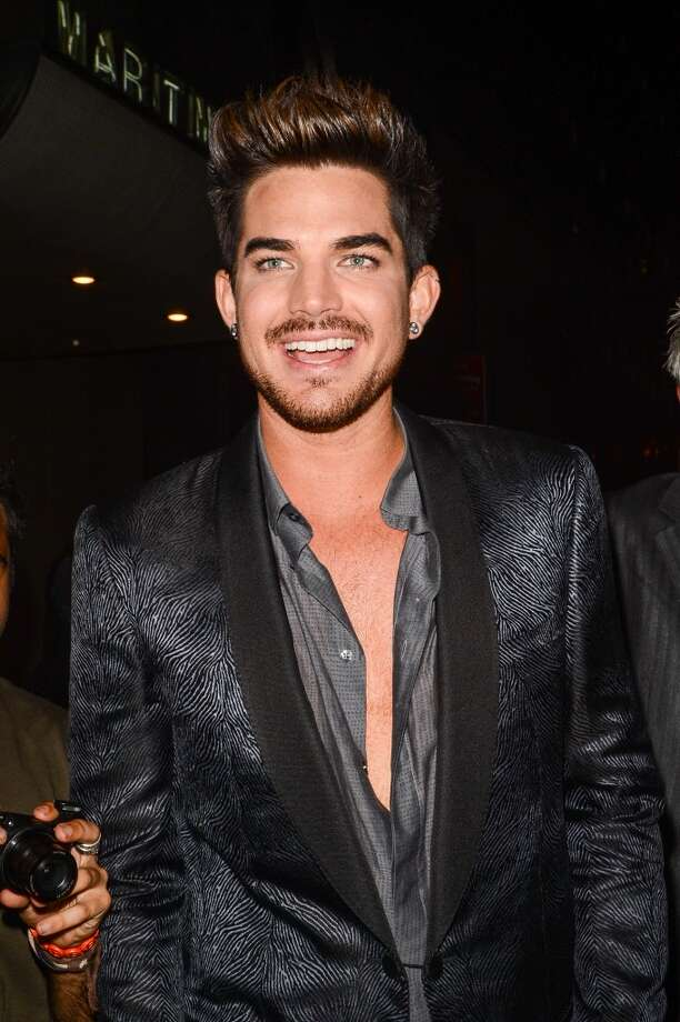 Singer Adam Lambert leaves the Dream Downtown hotel on August 25, 2013 in New York City.  (Photo by Ray Tamarra/Getty Images) Photo: Ray Tamarra, Getty Images