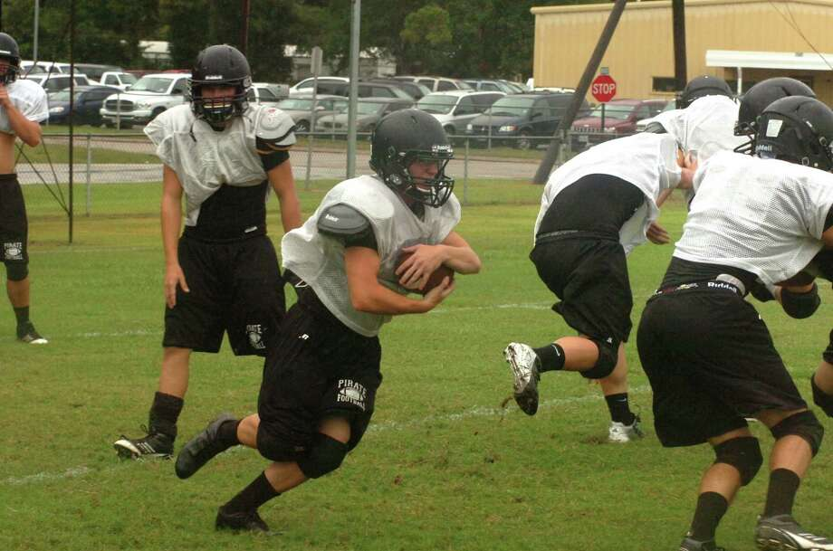 The Vidor football team practices in preparation of its season opener against Santa Fe on Friday night. Photo: David Berry
