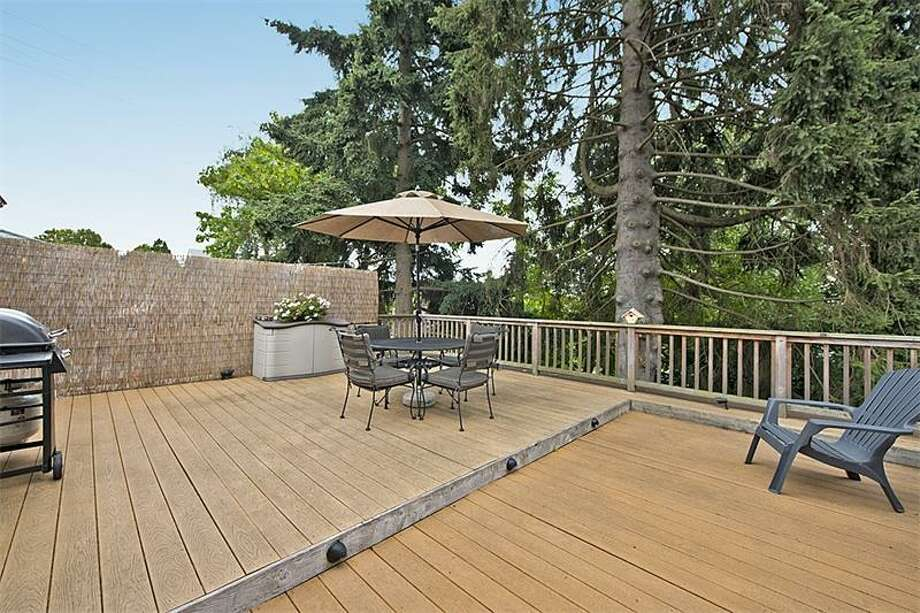 Deck of 3519 S.W. Monroe St. It's listed for $400,000. Photo: Courtesy Realogics Sotheby's International Realty
