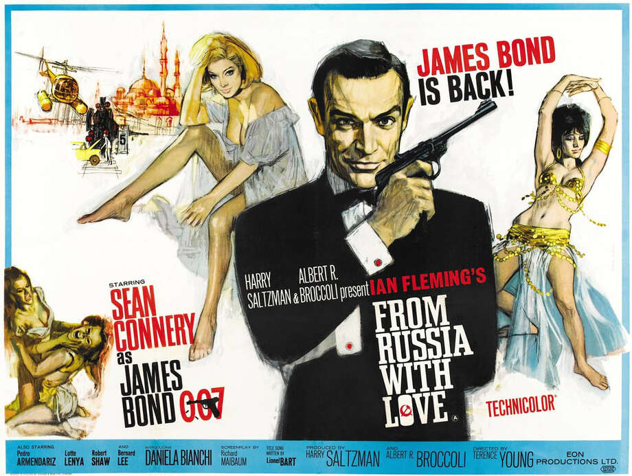 "A digital restoration of the second James Bond film - ""From Russia with Love"" (1963) _ will be screened at the Avon Theatre in Stamford on Thursday, Sept. 5 as part of the ""Cult Classics"" series. Photo: Contributed Photo"