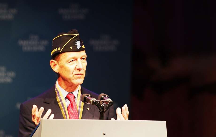 Theodore Roosevelt lV speaks at The American Legion 95th Annual Convention at the George R. Brown Convention Center in Houston, Tuesday, Aug. 27, 2013. (Johnny Hanson / Houston Chronicle)