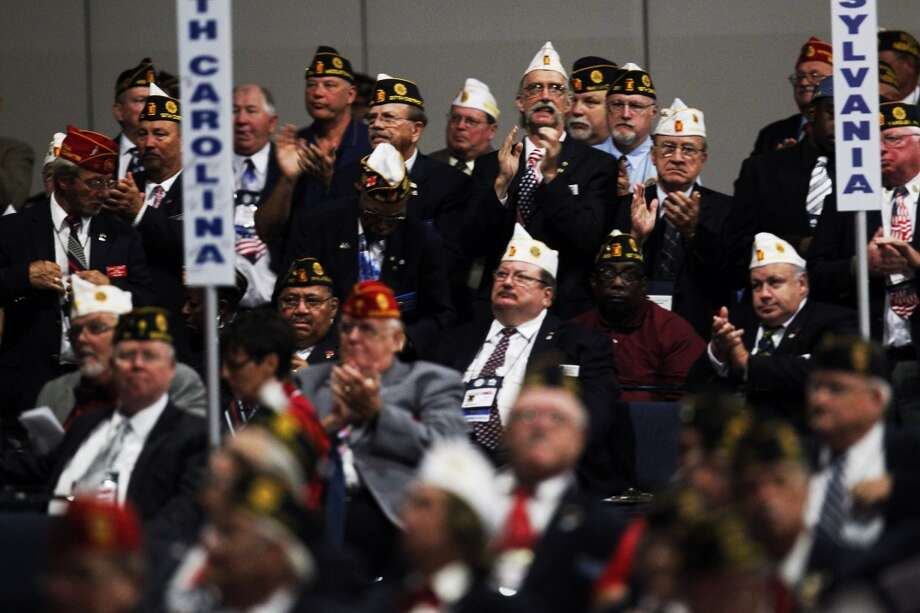 Thousands of veterans attended the American Legion National Convention at the George R. Brown Convention Center in Houston, Tuesday, Aug. 27, 2013. (Johnny Hanson / Houston Chronicle)