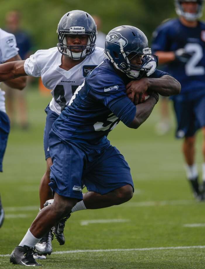 LB Craig Wilkins -- released undrafted rookie  He was a defensive star at Old Dominion, but the NFL is a whole new stage. Wilkins (pictured No. 45) signed with the Seahawks right after April's draft and was competing for a roster spot among Seattle's strong linebacking corps, but saw just 16 snaps in the first two preseason games. The 6-foot-1, 243-pounder now must look elsewhere for a chance to play in the NFL. Photo: Otto Greule Jr, Getty Images