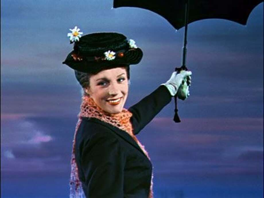 "Julie Andrews in ""Mary Poppins."" Photo: Disney 1964"