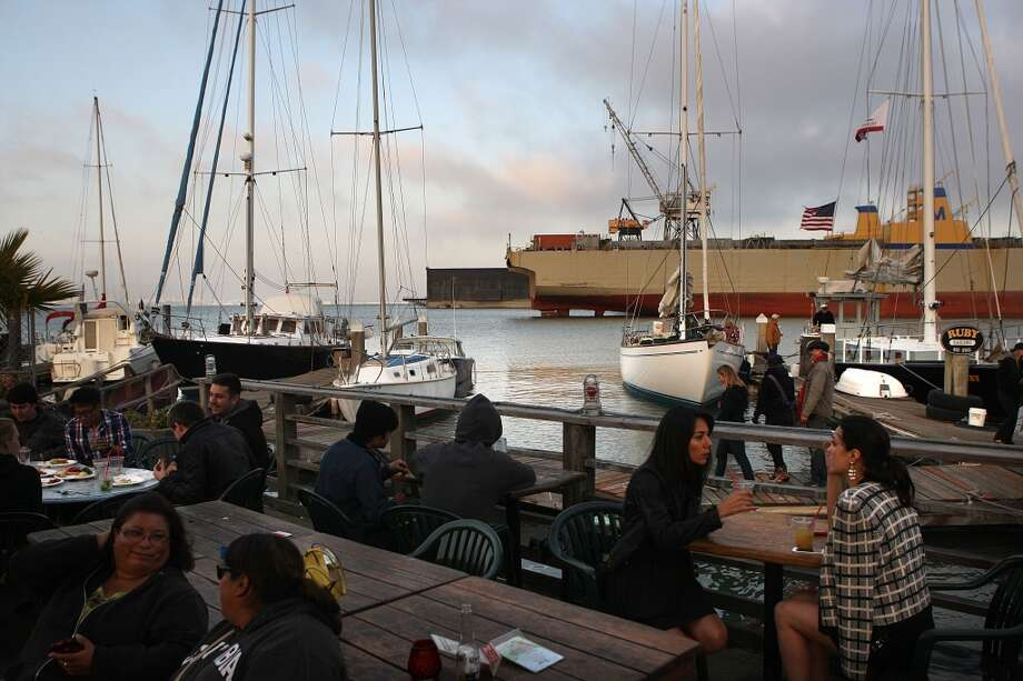 A view of the outside dining area at the ramp in San Francisco. Photo: Liz Hafalia, The Chronicle