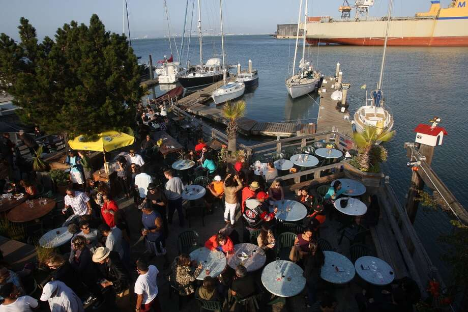 A view of the outside dining area of the Ramp in San Francisco. Photo: Liz Hafalia, The Chronicle