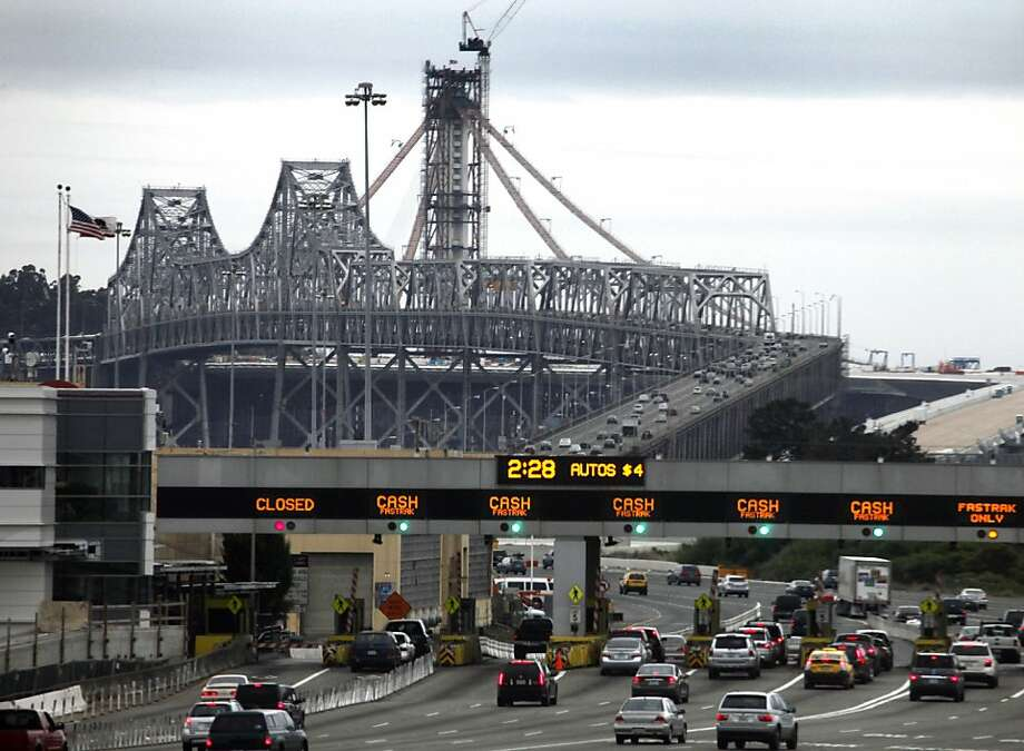 Environmental rules prohibit dynamiting the Bay Bridge's old eastern span, so it will have to be torn down west to east and top to bottom to avoid collapse. Photo: Lance Iversen, The Chronicle