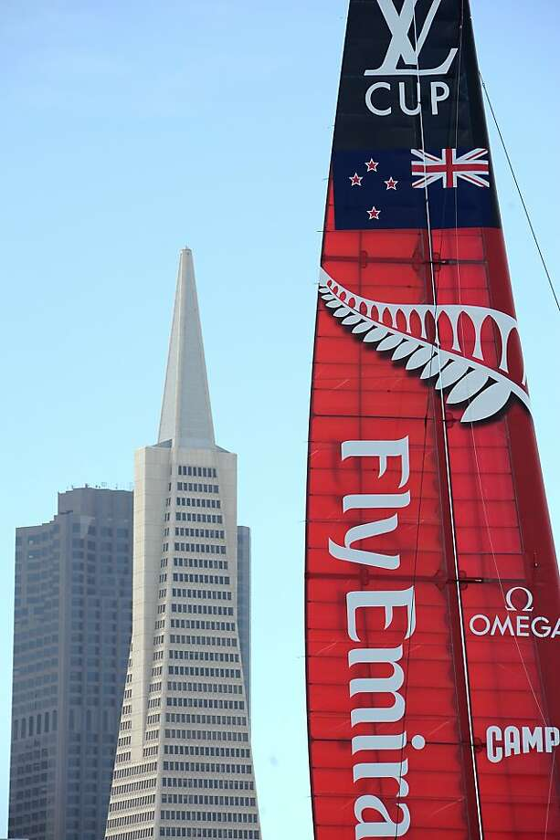 Emirates Team New Zealand is taking on Team Oracle in San Francisco Bay in the best-of-17 America's Cup finals. Photo: Michael Short, Special To The Chronicle
