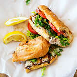 Perfect fish sandwiches, Newport Beach With seafood, less isn't more. It's everything. Thomas Carson, the fisherman owner of Bear Flag Fish Company, gets that. Served on a baguette that balances softness and crunch, Bear Flag's fish sandwich is a tribute to simplicity: lettuce, tomato, and fish (your choice) with perfect charring that plays off a drizzle of Tommy Sauce, Bear Flag's blend of mayo and hot sauce. $$; 407 31st St.; bearflagfishco.com