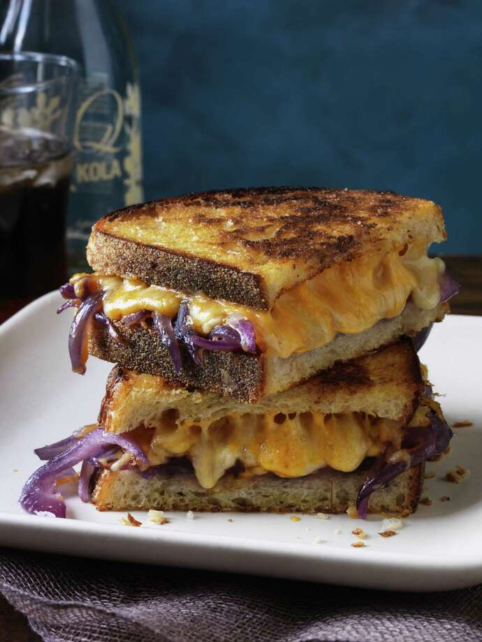 Redbook recipe for Grilled Cheese with Bourbon Melted Onions. Photo: Johnny Valiant