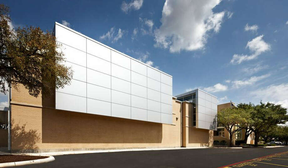 Aluminum composite panels provide a sleek, modern look on the facility's facade facing Broadway.